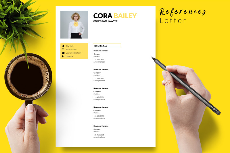 legal-resume-cv-template-for-microsoft-word-amp-apple-pages-cora-bailey