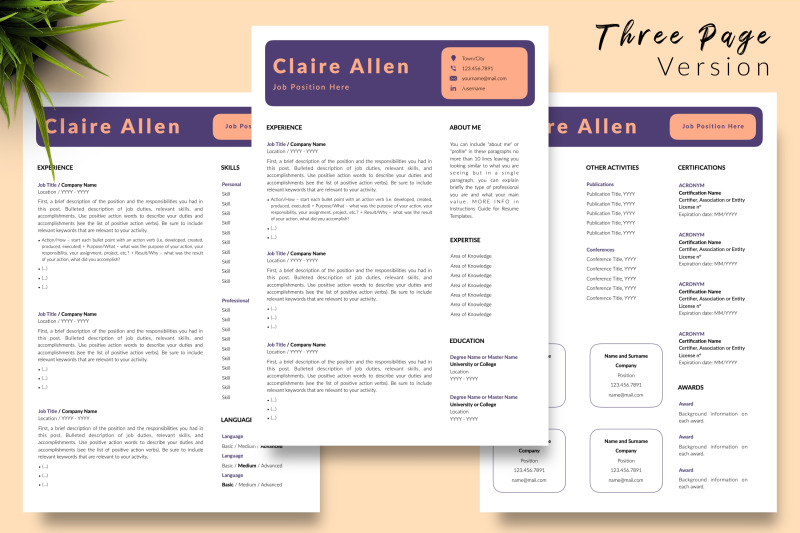 creative-resume-template-for-microsoft-word-amp-apple-pages-claire-allen