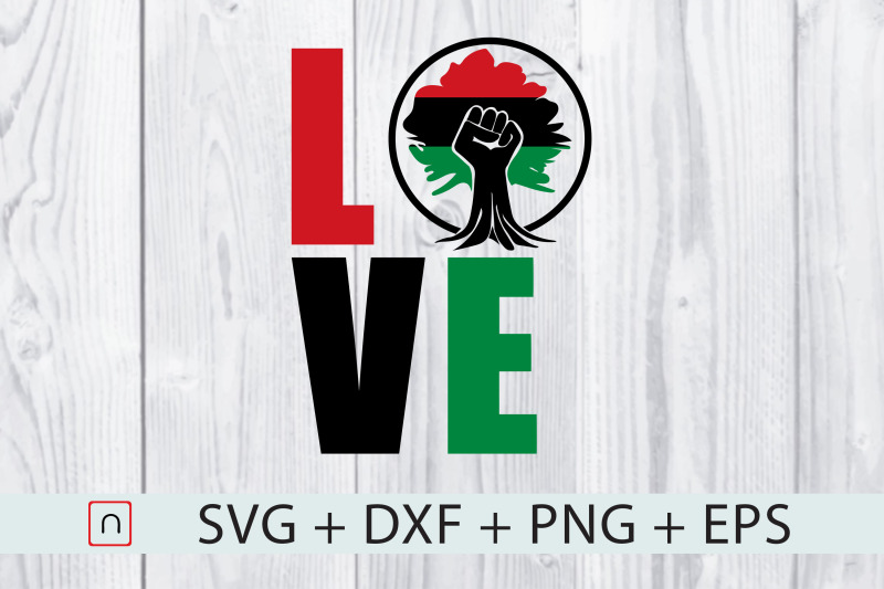 love-africa-root-flag-map-black-fist