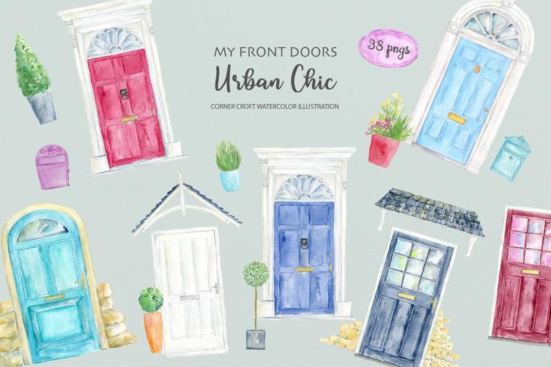 watercolor-urban-front-door-illustration