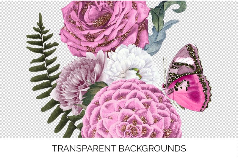 pink-bouquet-glitter
