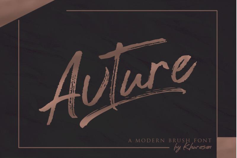 avture-brush-font