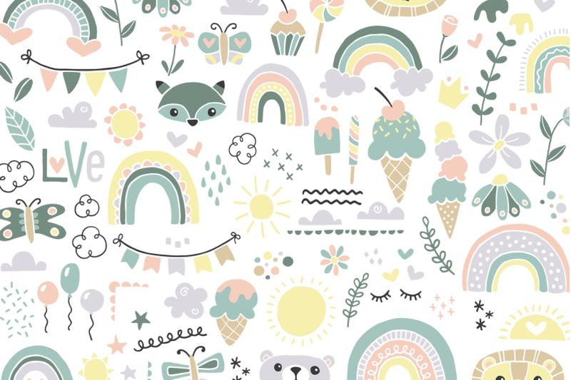 rain-or-shine-font-doodles