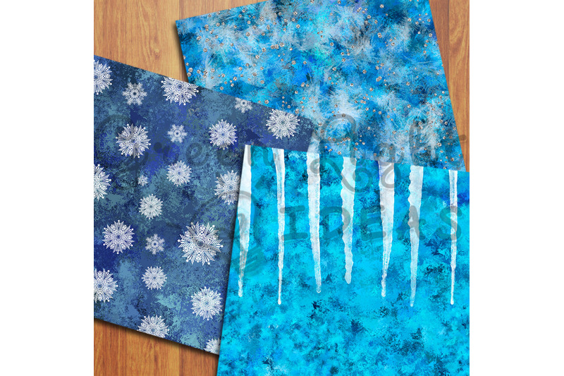 frozen-winter-digital-papers-snowflakes-backgrounds-icy-snow-papers