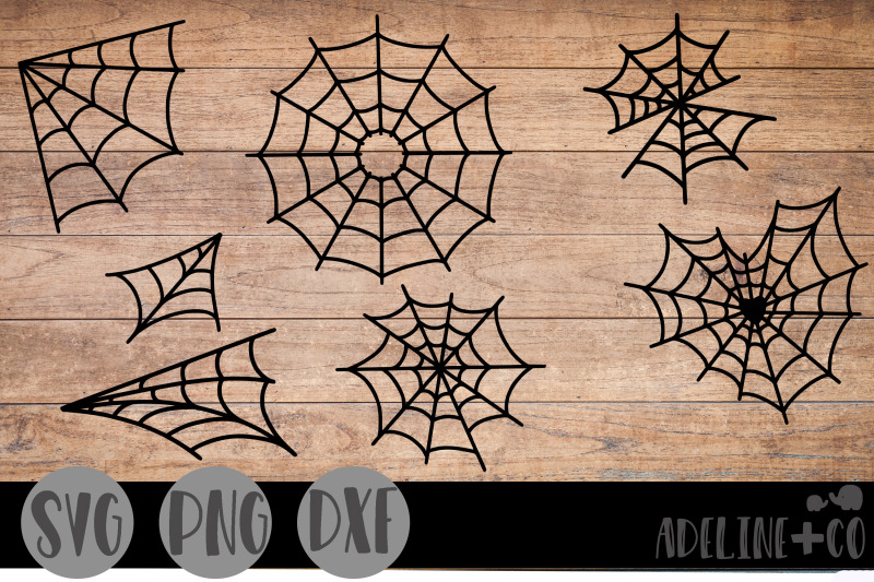 spider-webs-bundle-svg-png-dxf