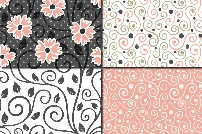 floral-swirls-blush-peach-and-green-seamless-digital-paper
