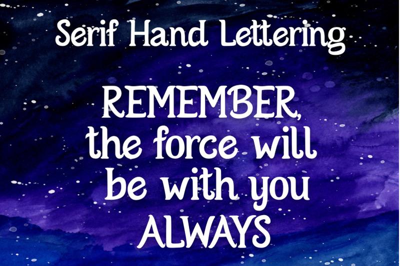 serif-hand-lettering