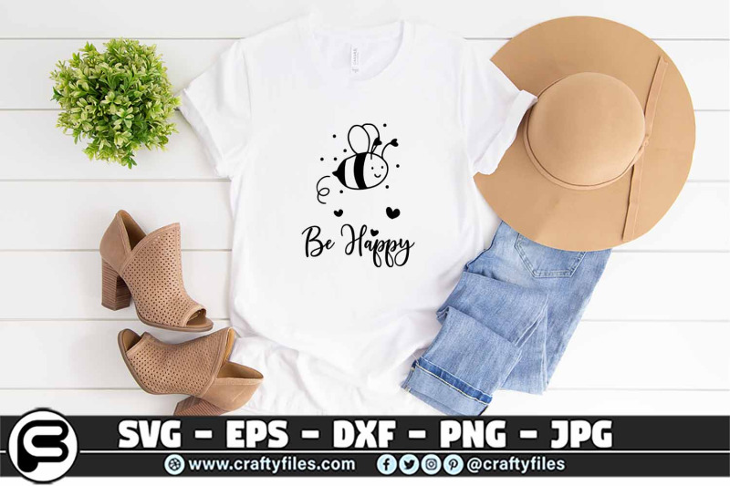 bee-happy-cute-bee-insect-svg-bee-svg-be-happy