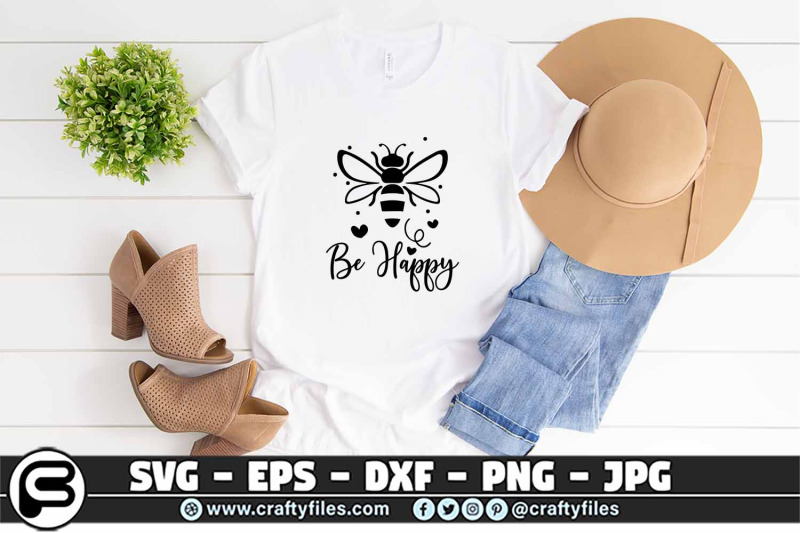 132-bee-happy-cute-bee-insect-svg-cut-file-bee-svg-be-happy-svg