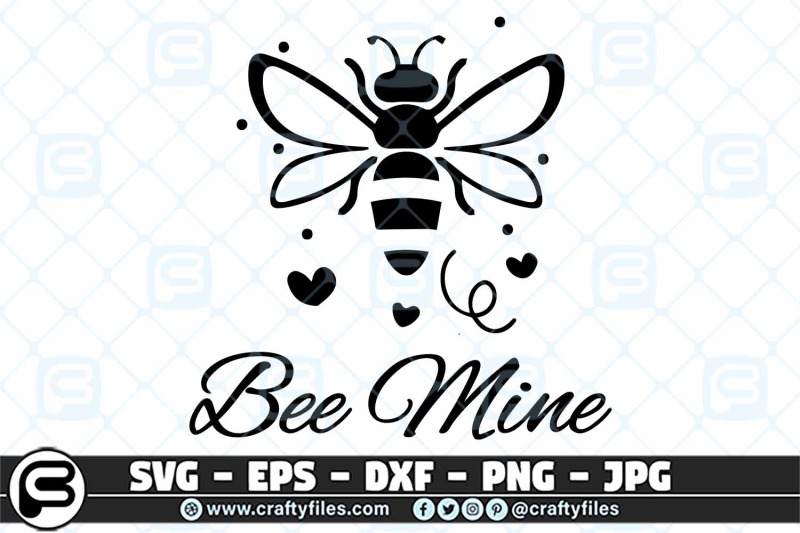 bee-mine-svg-cut-file-happy-bee-svg-bee-floral-svg