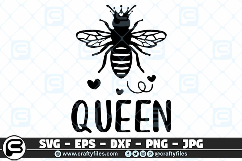 bee-queen-svg-bee-svg-queen-of-bee-eps-dxf-cut-files-for-cricut