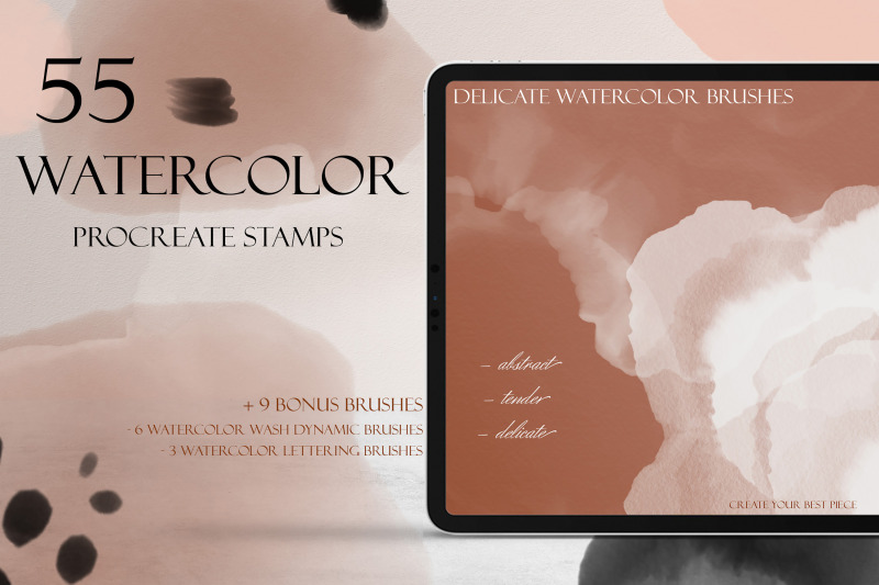 delicate-watercolor-procreate-brush-set-55-realistic-watercolor-stamp