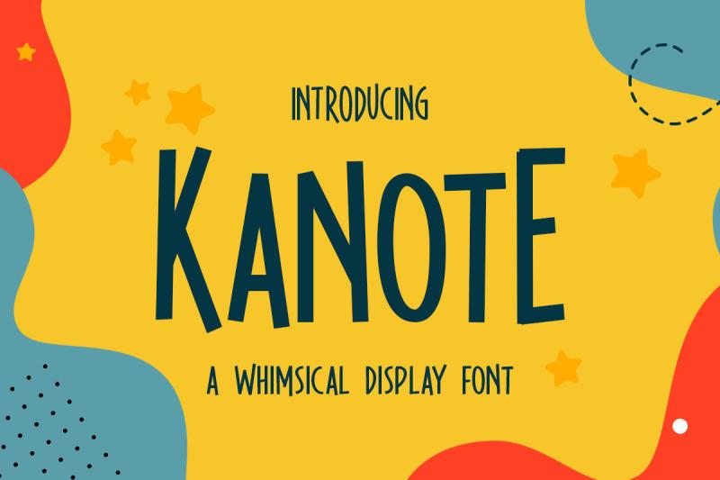 kanote-whimsical-display-font