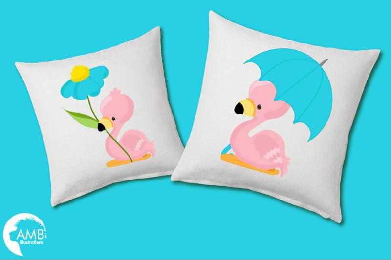 baby-summer-flamingoes-clipart-amb-2632