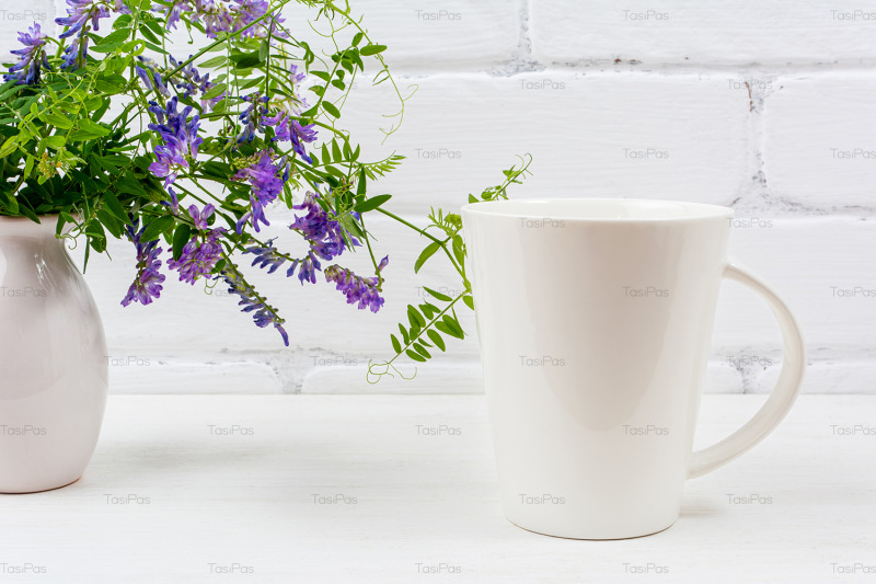 white-coffee-latte-mug-mockup-with-purple-bird-vetch