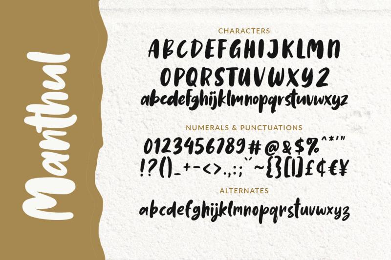manthul-cute-amp-bold-font
