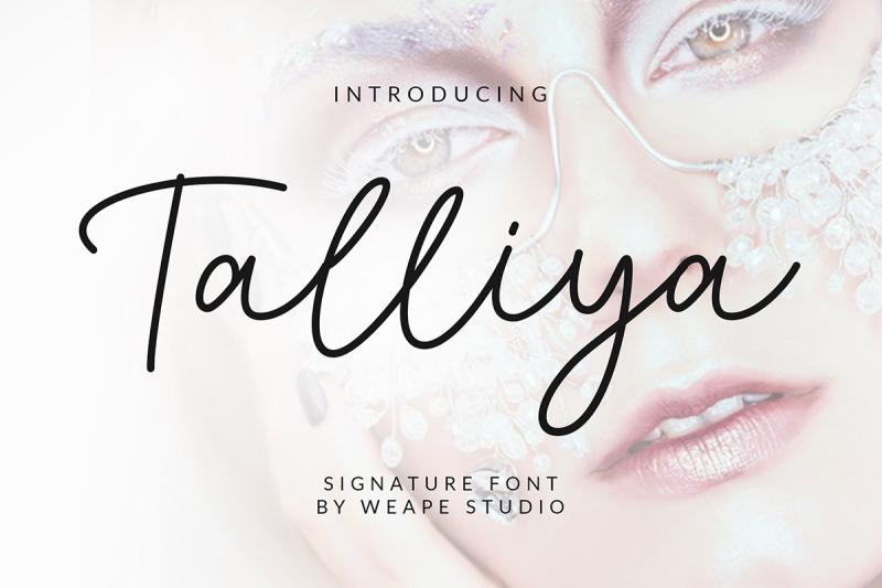 talliya-signature-font