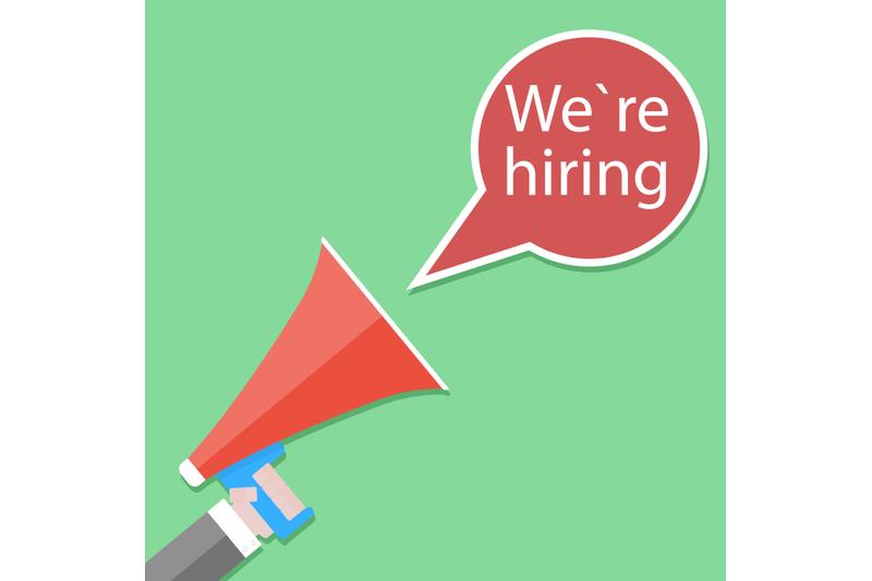 we-hiring-announcement-banner-with-bullhorn