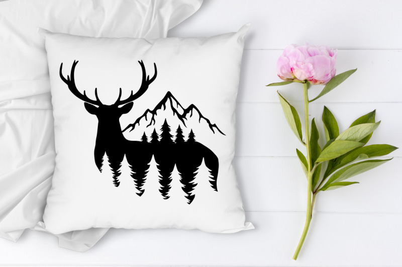 deer-bundle-svg-deer-and-mountains-svg-files-for-silhouette-amp-cricut