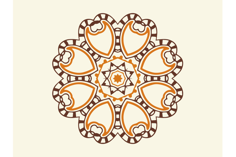 ornament-abstract-brown-color-design