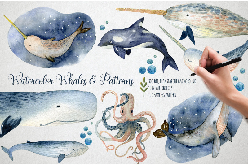 watercolor-whales-amp-patterns