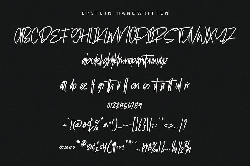 epstein-signature-handwritten-handmade-font