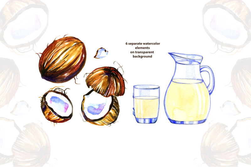 watercolor-coconut-milk