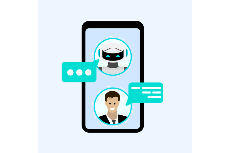 chatting-with-bot-in-smartphone-messenger