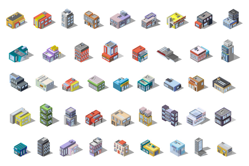 isometric-city-megapolis-with-cars-and-people-set-of-houses