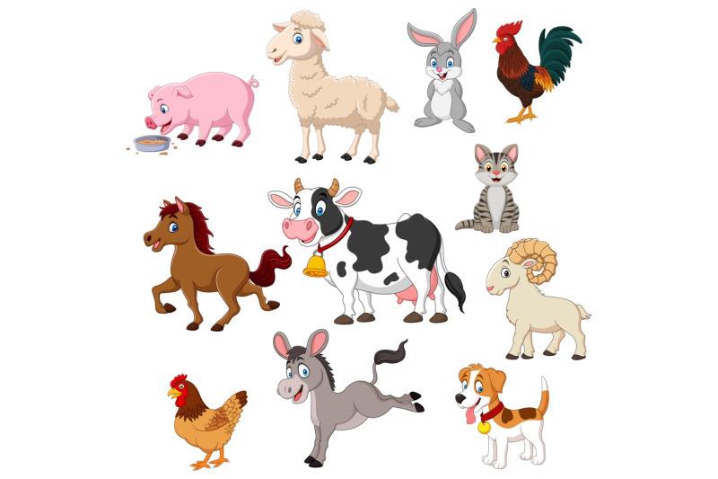 cartoon-farm-animals-vector-set