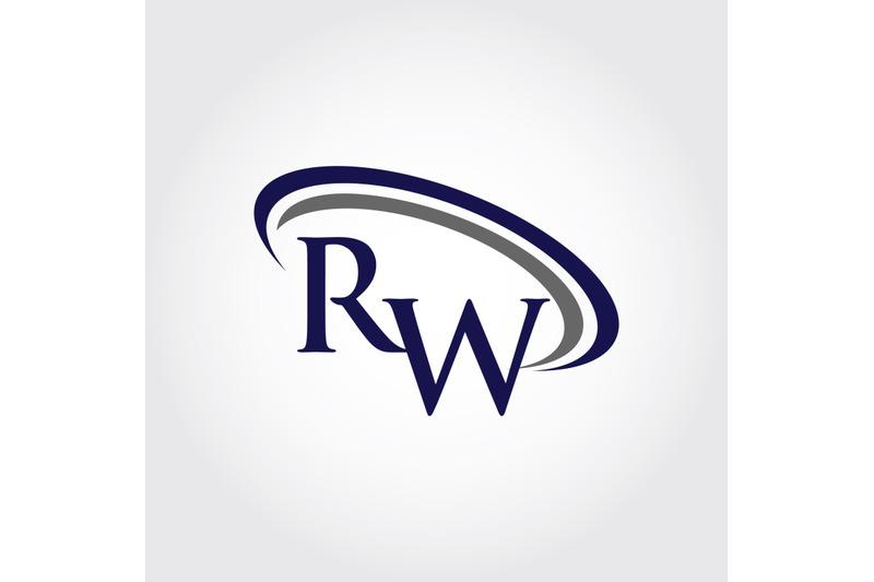 monogram-rw-logo-design
