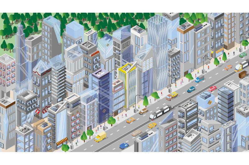 isometric-cities-city-map-architecture-megapolis