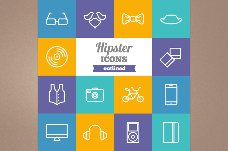 outline-hipster-icons