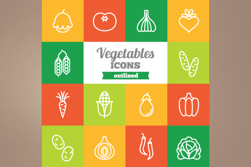 outlined-vegetables-icons