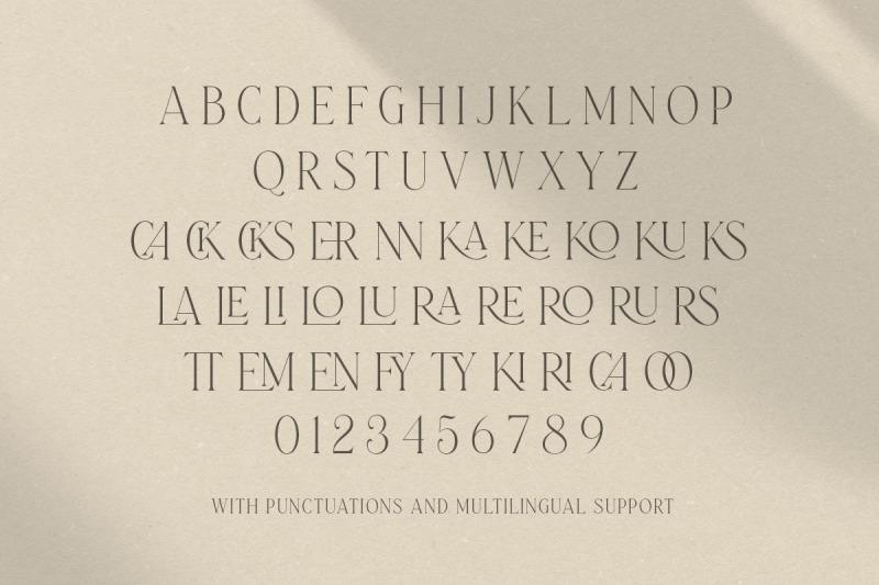laterlocks-all-caps-ligature-serif