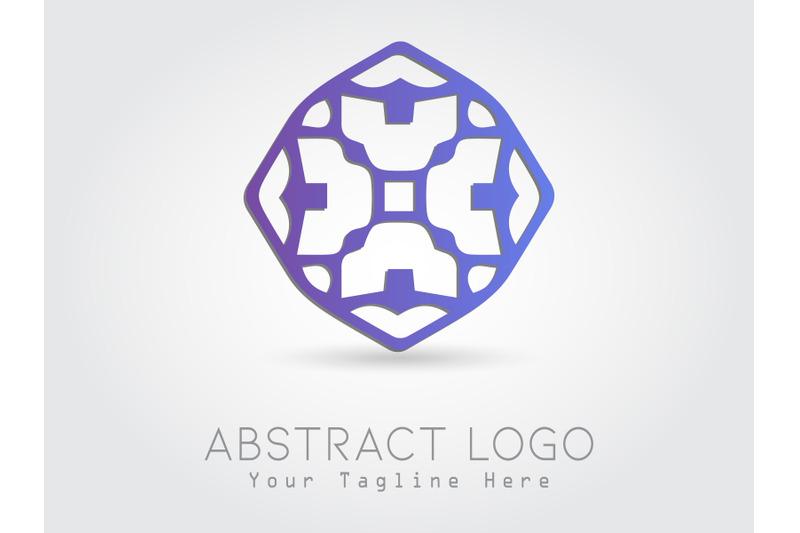 logo-abstract-gradation-purple-color