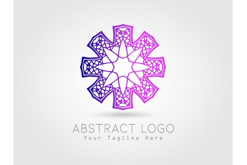 logo-abstract-gradation-purple-pink-color
