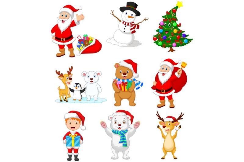 cartoon-christmas-vector-set