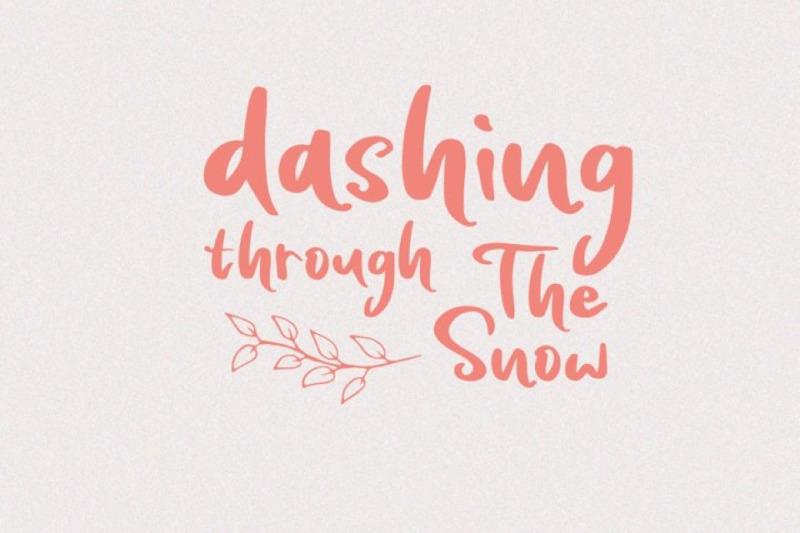 snowing-handwritten-font