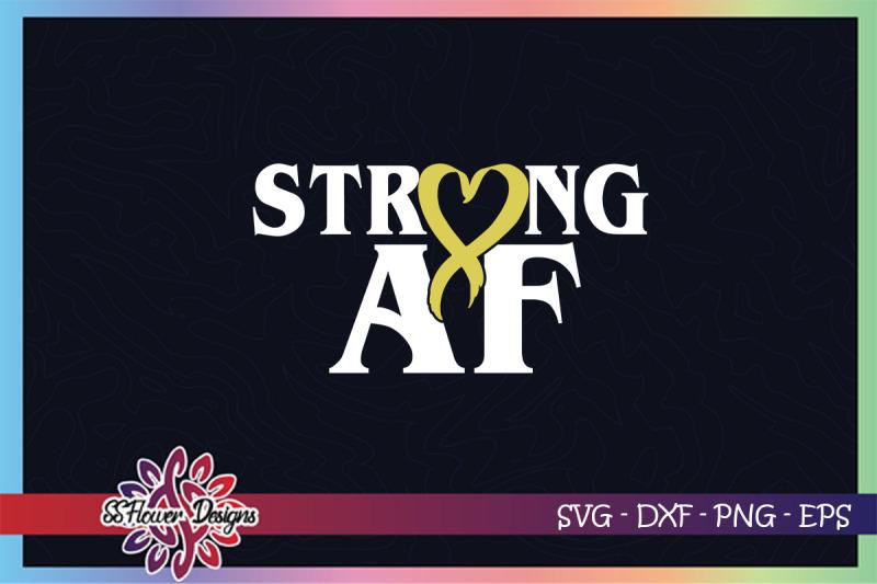 strong-af-svg-ribbon-cancer-svg-gold-ribbon-childhood-cancer