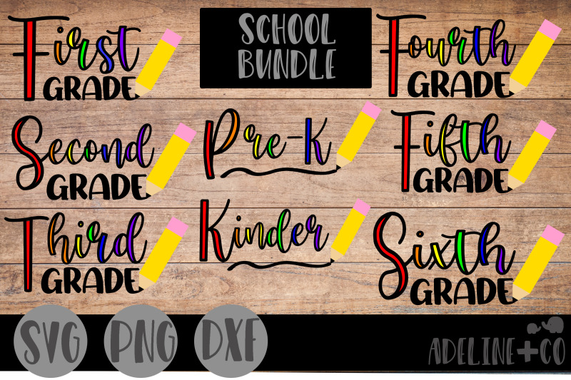 school-bundle-svg-png-dxf