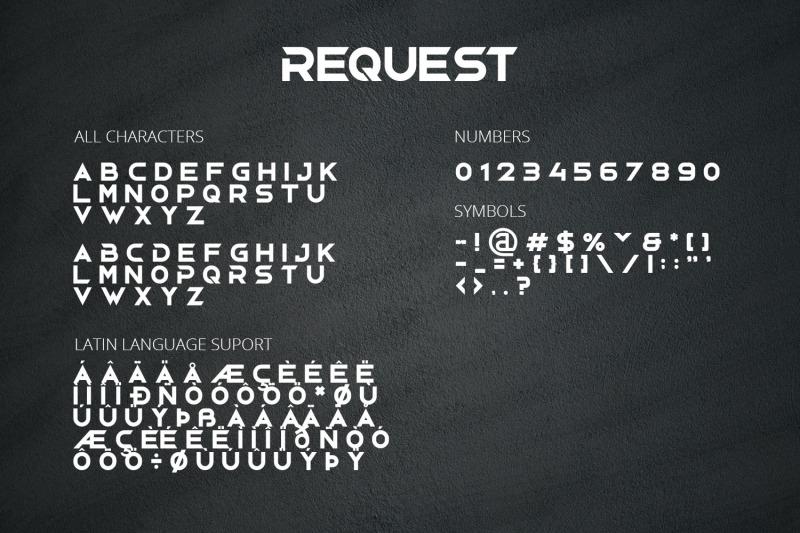 request-modern-display-font