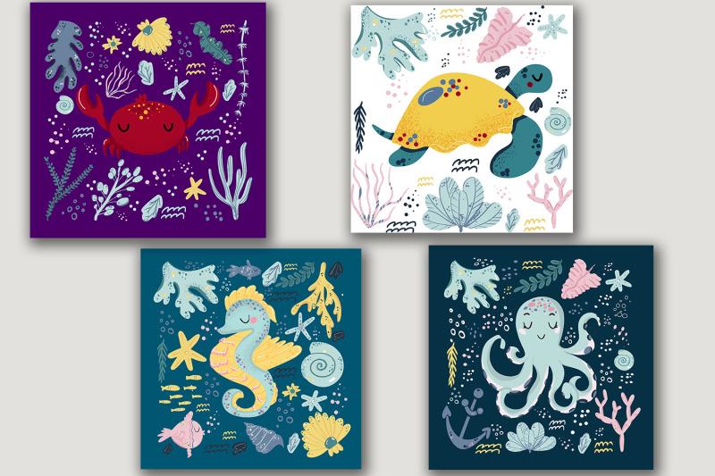marine-animals-printable-posters-set