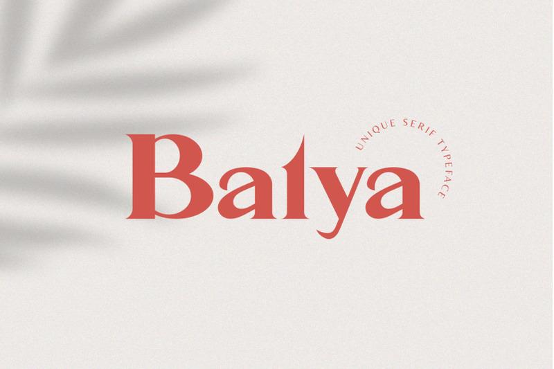 balya-serif-font