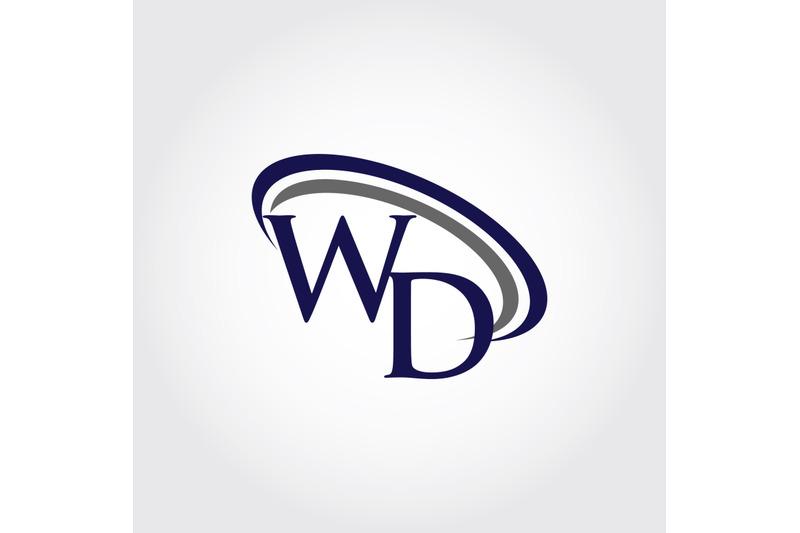 monogram-wd-logo-design