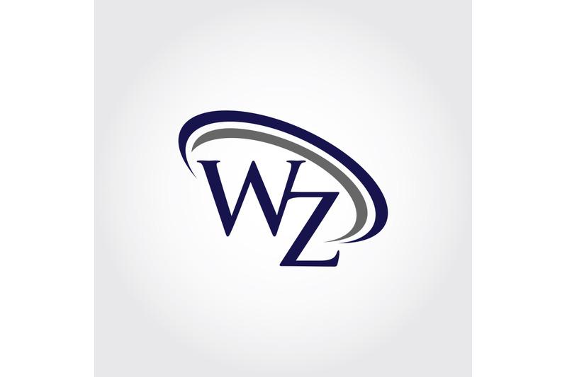 monogram-wz-logo-design