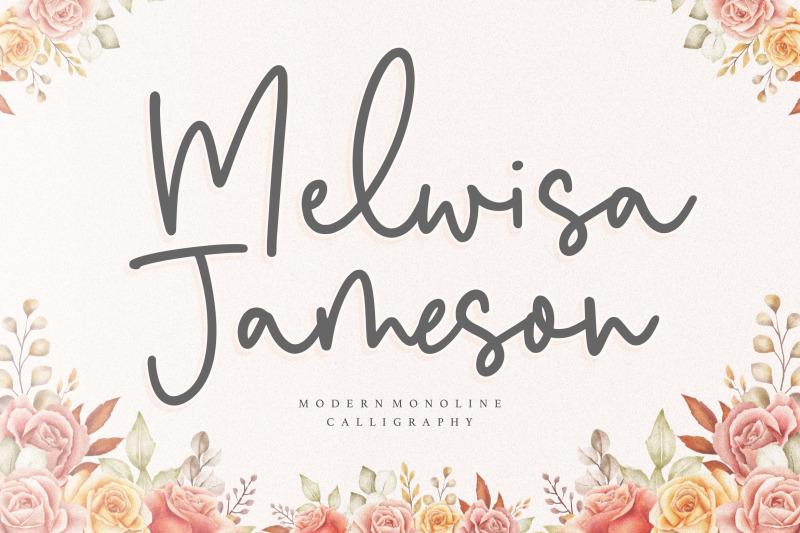 melwisa-jameson-modern-monoline-calligraphy-font