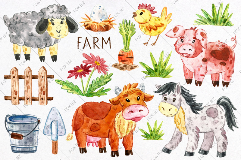 domestic-animals-watercolor-clipart-jpeg-png