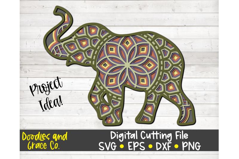 elephant-3d-layered-mandala-svg-dxf-eps-png
