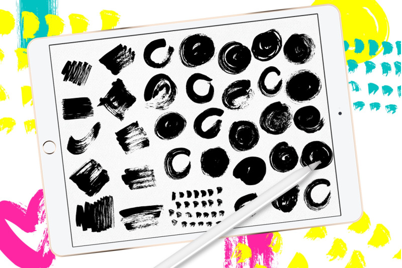 abstract-paint-stamp-brushes-for-procreate